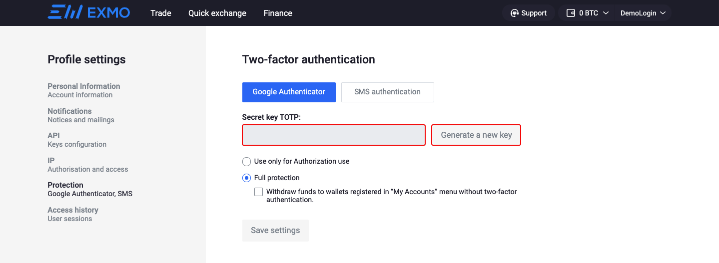 2FA Google Authentificator