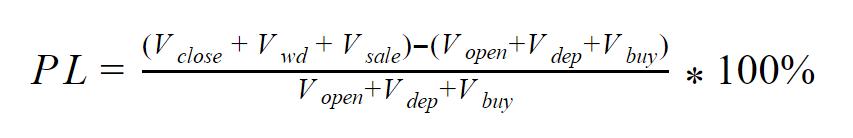 Формула доходности