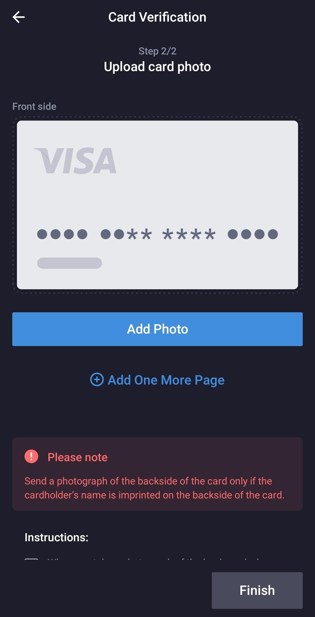 Card verification 2
